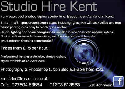 Studio Hire Kent - Lee Robinson Photography